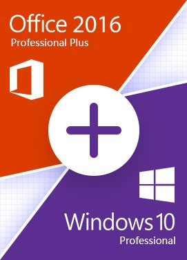 Official Windows 10 Pro + Office 2016 Pro - Value Package