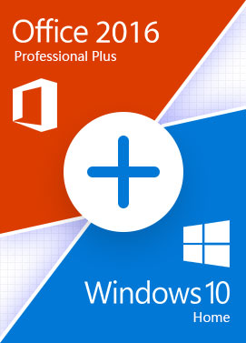 Official Windows 10 Home + Office 2016 Pro - Bundle