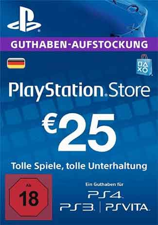 Official PSN 25 EUR / PlayStation Network Gift Card DE Store