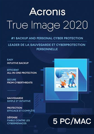 Official Acronis True Image 2020 - 5 PC/Mac