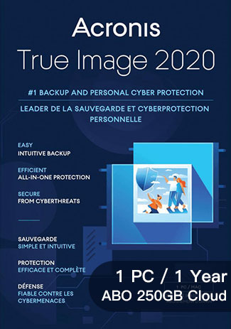 Official Acronis True Image 2020 Advanced - 1 Device - 1 Year (ABO 250GB Cloud)