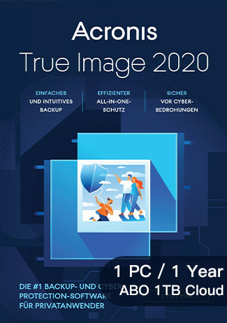 Official Acronis True Image 2020 Premium - 1 Device - 1 Year (ABO 1TB Cloud)