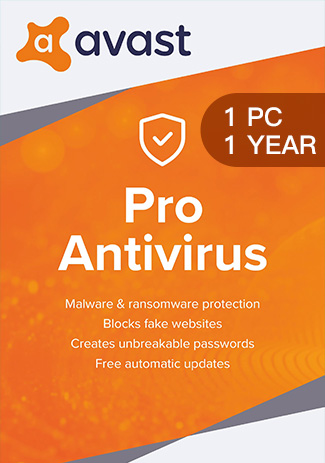 Official Avast Pro Antivirus - 1 PC / 1 Year