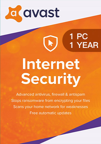Official Avast Internet Security - 1 PC / 1 Year