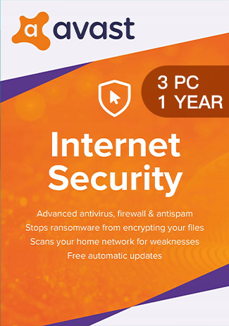 Official Avast Internet Security - 3 PC / 1 Year