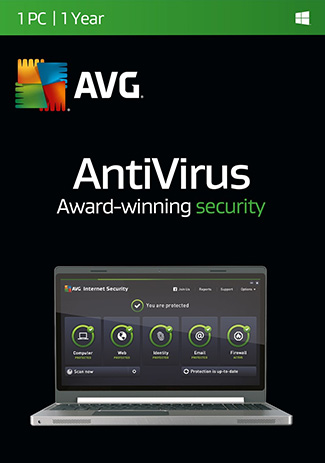 Official AVG Antivirus - 1 PC - 1 Year