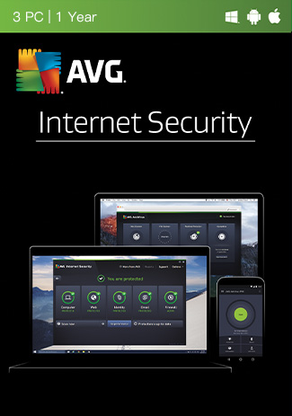 Official AVG Antivirus - 3 PCs - 1 Year
