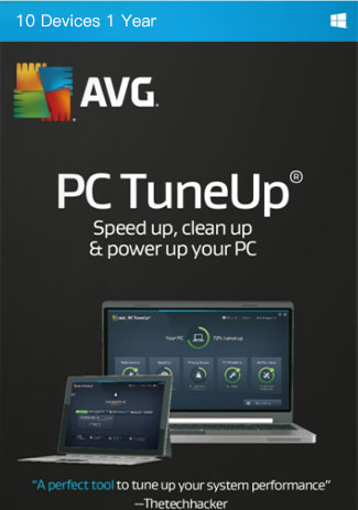 Official AVG Tuneup - 10 Devices - 1 Year