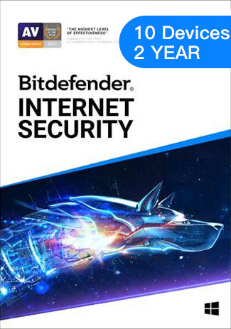 Official Bitdefender Internet Security - 10 Devices - 1 Year (EU)