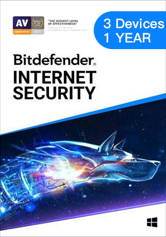 Official Bitdefender Internet Security - 3 Devices - 1 Year (EU)