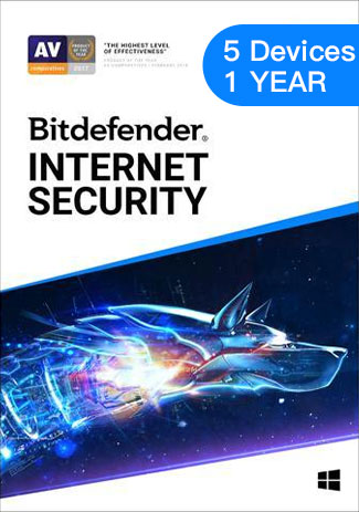 Official Bitdefender Internet Security - 5 Devices - 1 Year (EU)