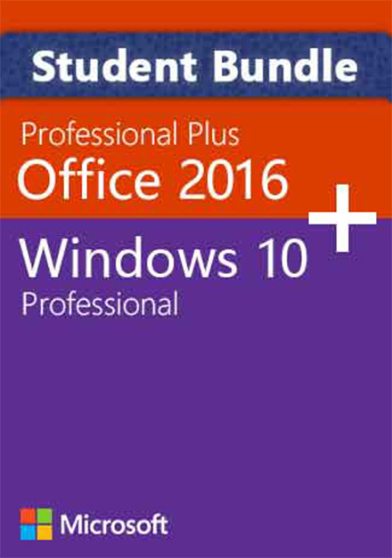 Official Windows 10 Pro + Office 2016 Pro - Student Package