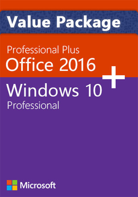Windows 10 Pro + Office 2016 Pro - Value Package