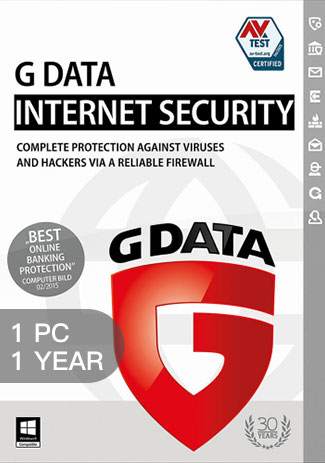Official G Data Internet Security - 1 Device - 1 Year
