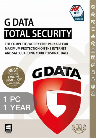 Official G Data Total Security - 1 Device - 1 Year