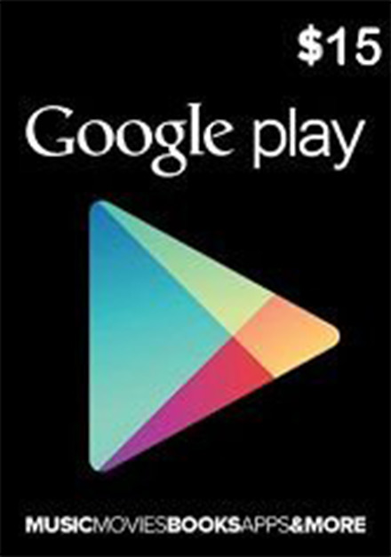 Official Google Play $15 Gift Card