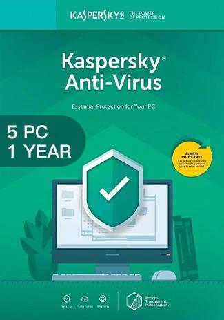 Official Kaspersky Antivirus - 5 PCs - 1 Year