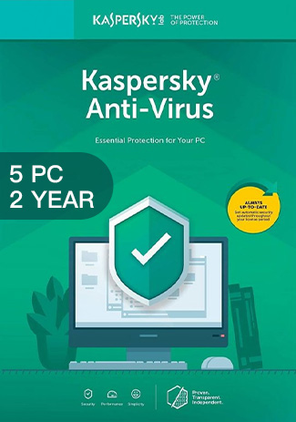Official Kaspersky Antivirus - 5 PCs - 2 Years