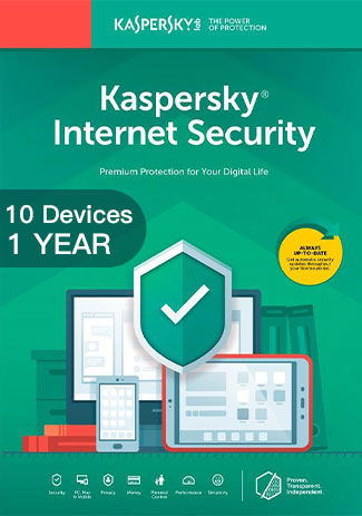 Official Kaspersky Internet Security Multi Device - 10 Devices - 1 Year