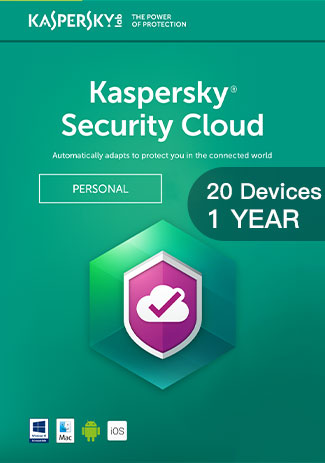 Official Kaspersky Security Cloud - 20 Devices - 1 Year