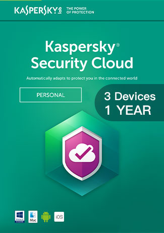 Official Kaspersky Security Cloud - 3 Devices - 1 Year