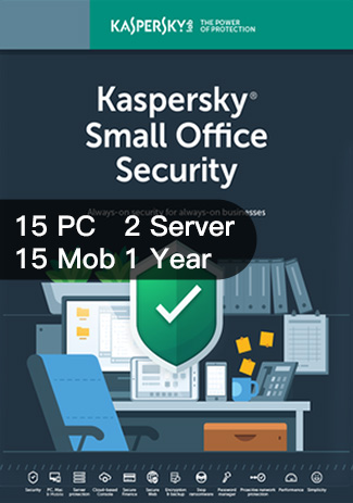 Official Kaspersky SMALL Office Security Version 6 - 15PC+15Mob+2Server / 1 Year
