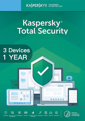 Official Kaspersky Total Security Multi Device - 3 Devices - 1 Year