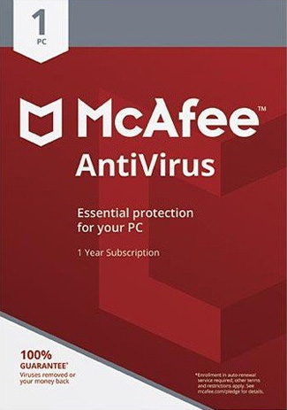 Official McAfee Antivirus  - 1PC / 1 Year