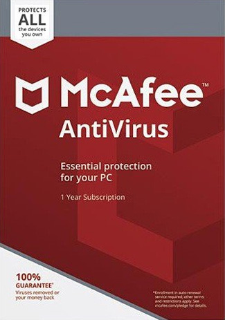 Official McAfee Antivirus unlimited - 1 Year (Account)