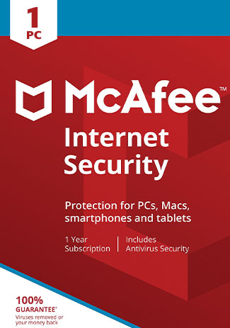 McAfee Internet Security - 1 Device - 1 Year (Account)