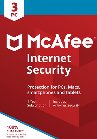 Official McAfee Internet Security - 3 Devices - 1 Year (Account)