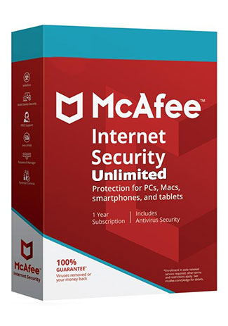 Official McAfee Internet Security unlimited - 1 Year (Account)