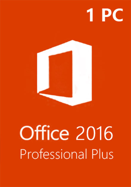 Official Microsoft Office 2016 Pro Professional Plus CD-KEY (1 PC)