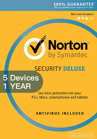 Official Norton Security Deluxe 3 - 5 Devices - 1 Year