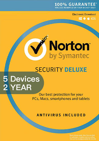 Official Norton Security Deluxe 3 - 5 Devices - 2 Years