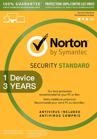Official Norton Security Standard 3 - 1 Device - 3 Years