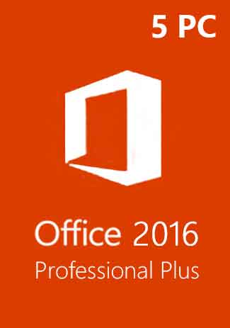 Official Microsoft Office 2016 Professional Plus CD-KEY (5 PC)