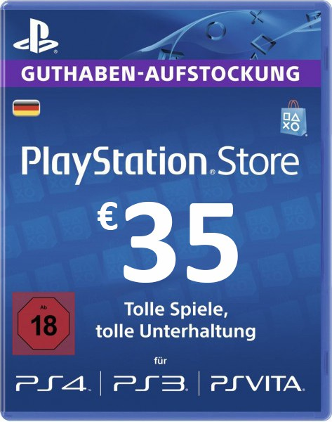 Official PSN 35 EUR / PlayStation Network Gift Card DE Store