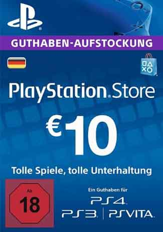 Official PSN 10 EUR (DE) - PlayStation Network Gift Card