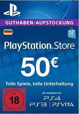 Official PSN 50 EUR / PlayStation Network Gift Card DE Store
