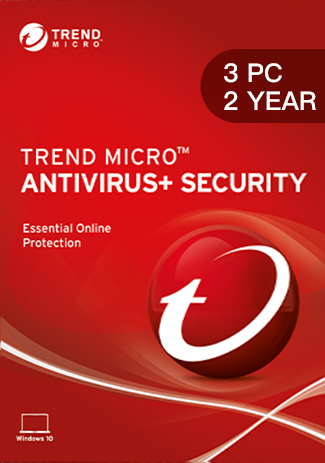 Official Trend Micro Antivirus + Security - 3 PCs - 2 Years