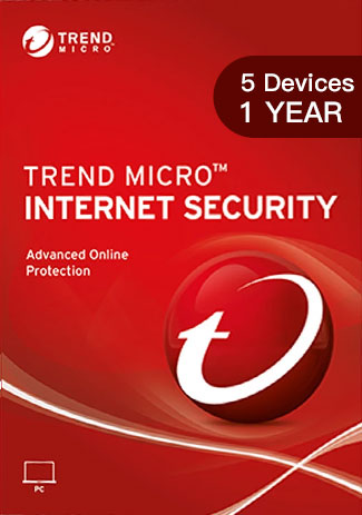 Official Trend Micro Internet Security - 5 Devices - 1 Year