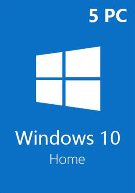 Official Windows 10 Home CD-KEY (32/64 Bit) (5 PC)