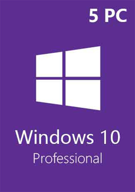 Official Windows 10 Pro Professional CD-KEY (32/64 Bit) (5 PC)