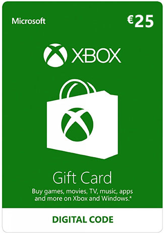 Official Xbox Live 25 Euro Gift Card