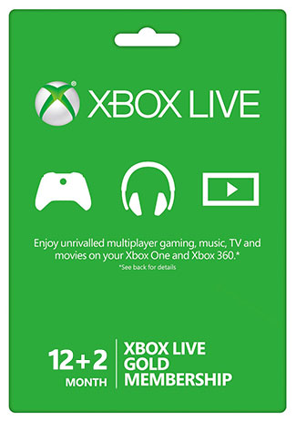 Official Xbox Live 12+2 Month Gold Membership (Xbox One/360)