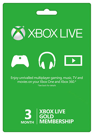 Official Xbox Live 3 Month Gold Membership (Xbox One/360/Global)