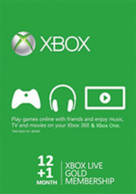 Official Xbox Live 12+1 Month Gold Membership (Xbox One/360)