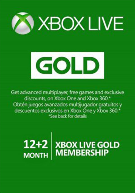 Xbox Live 12+2 Month Gold Membership (Xbox One/360)