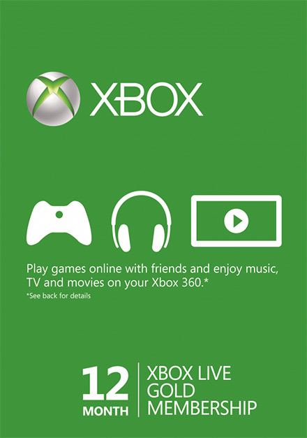 Xbox Live 12 Month Gold Membership (Xbox One/360)